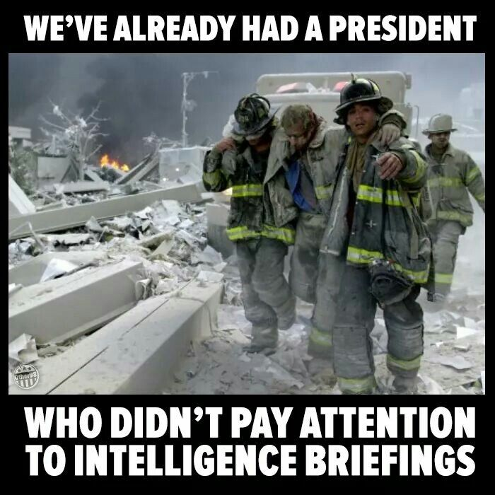 How short our memories are.  Missing one briefing could make all the difference between safety and 9/11.