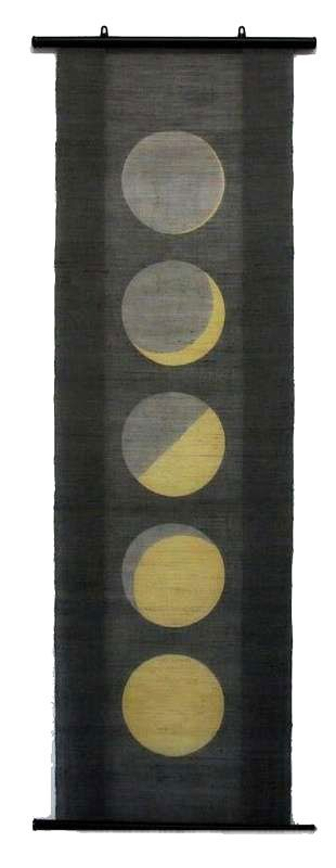 Love: Hand-woven linen wall hanging/tapestry - Moon Stories