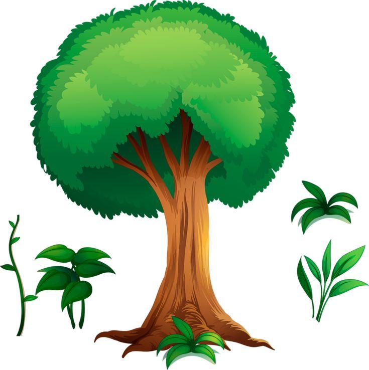 Картинки деревья нарисованные для детей