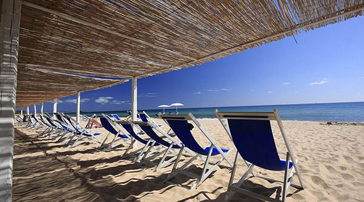 Hotel Flamingo Resort Pula Sardinia Beach Front Sun Chairs