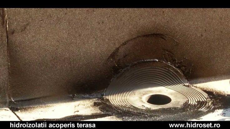 Izolatii montaj acoperisuri terase: gura scurgere (video)