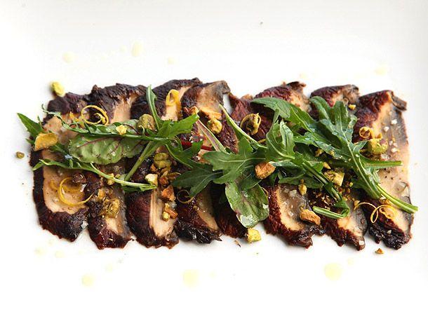 Miso-Marinated Portobello Mushroom Carpaccio | Serious Eats
