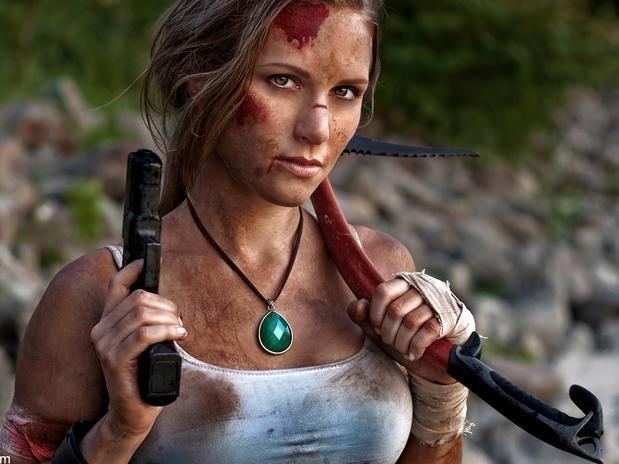 Cosplay Lara Croft i love it!!! and i love her!!!!