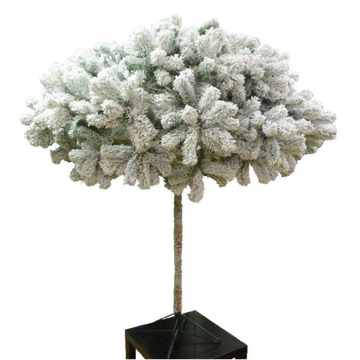 6ft Frosted Umbrella Christmas Tree Flocked Pine