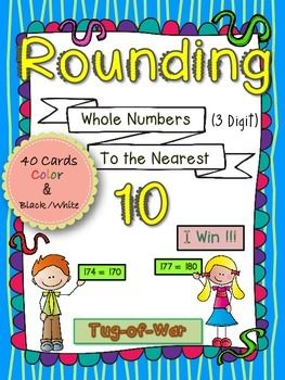 Rounding to the nearest ten – math game for 2nd grade ...