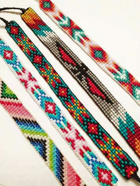 Peyote stitch patterns.