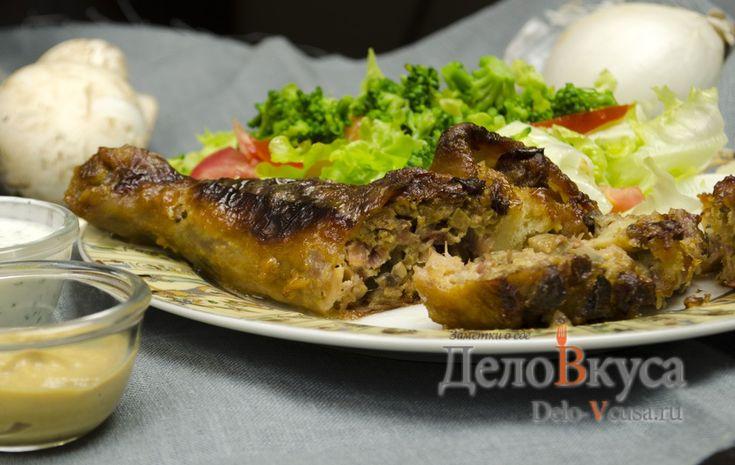 Рецепт приготовления фаршированных куриных ножек  с сыром и грибами #курица #фаршированаякурица  #еда #рецепты #деловкуса #готовимсделовкуса