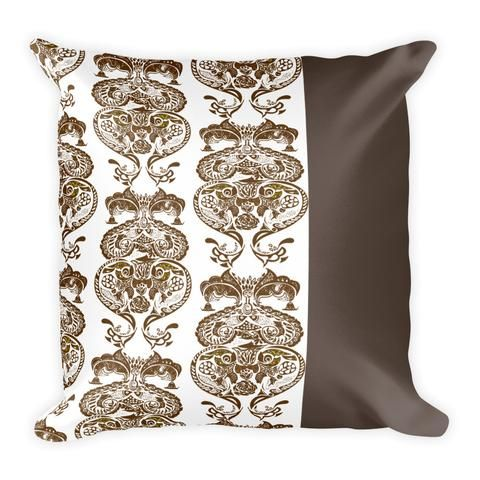 Neo Traditional Pattern Brown - Earthistik Pillow