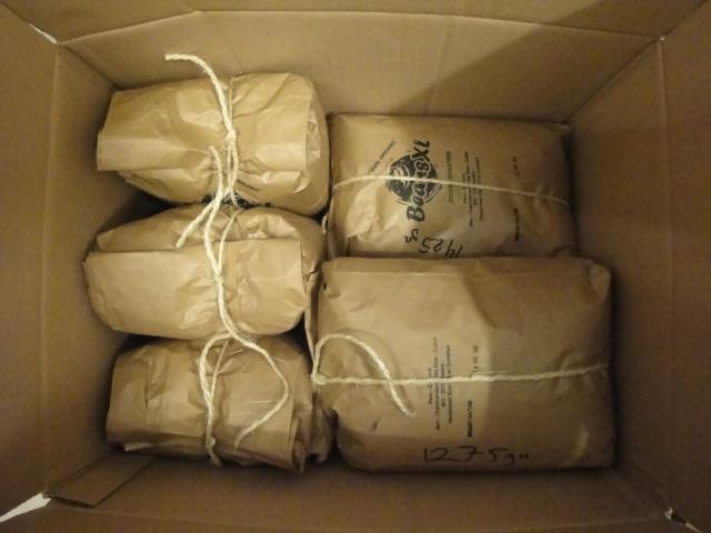 Bestelling 13kg koffie voor Roast