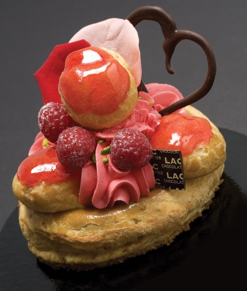 Pascal Lac: St Honoré  vanilla custard and raspberry whipped cream