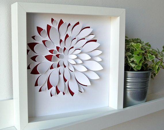 graptosedum solo tableau en papier d coup inspiration succulentes par brindesev sur etsy my. Black Bedroom Furniture Sets. Home Design Ideas