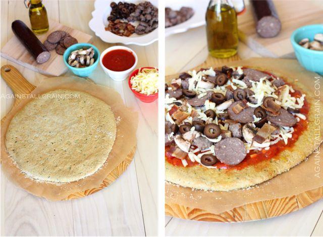 SCD Friendly Pizza Crust - gluten free, grain free | food! | Pinterest ...