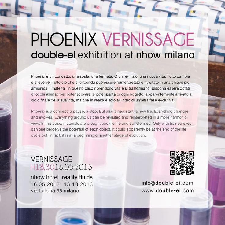 """Phoenix"" _Double-ei exhibition at Nhow Milano"