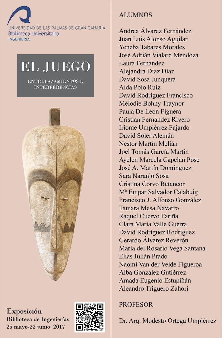 Marcapáginas de la exposición El juego: entrelazamientos e interferencias organizada por la Biblioteca de Ingeniería.