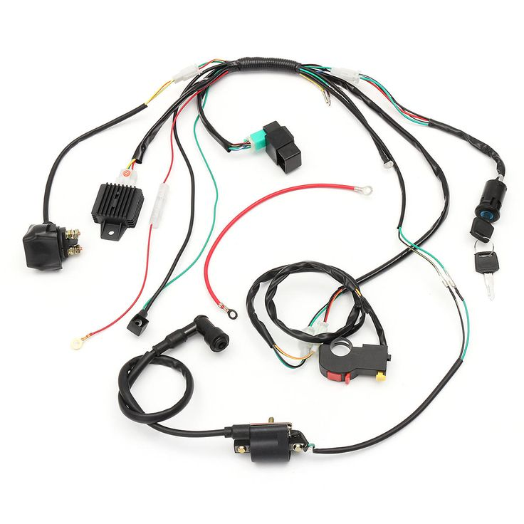 Wiring Harness Loom Solenoid Coil Rectifier Cdi For 50cc