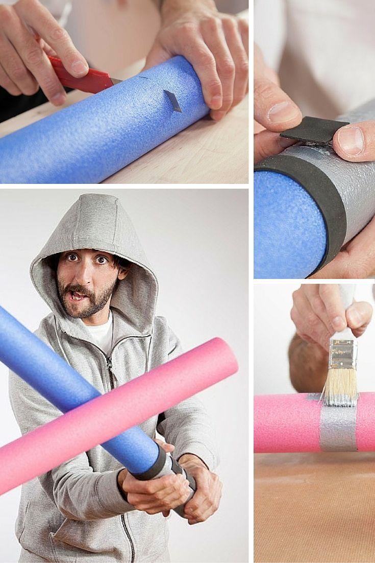 ¡Espada láser #DIY! Conviértete en un jedi con esta espada de Star Wars hecha con espuma y detalles con goma eva.