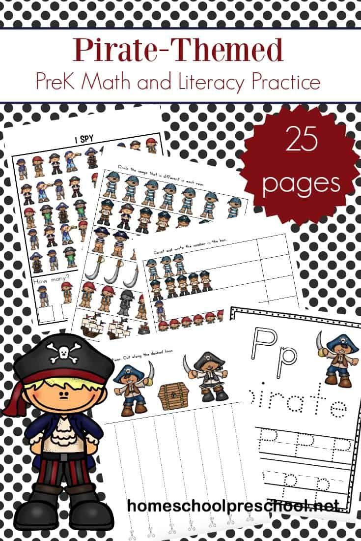 Printable I Spy Pirate Monkey Activity for Preschool ...