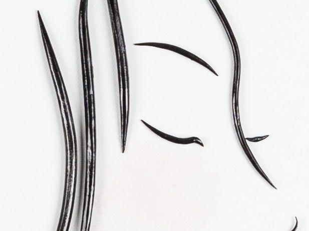 Quadro moderno in ferro Geisha | Artista contemporaneo