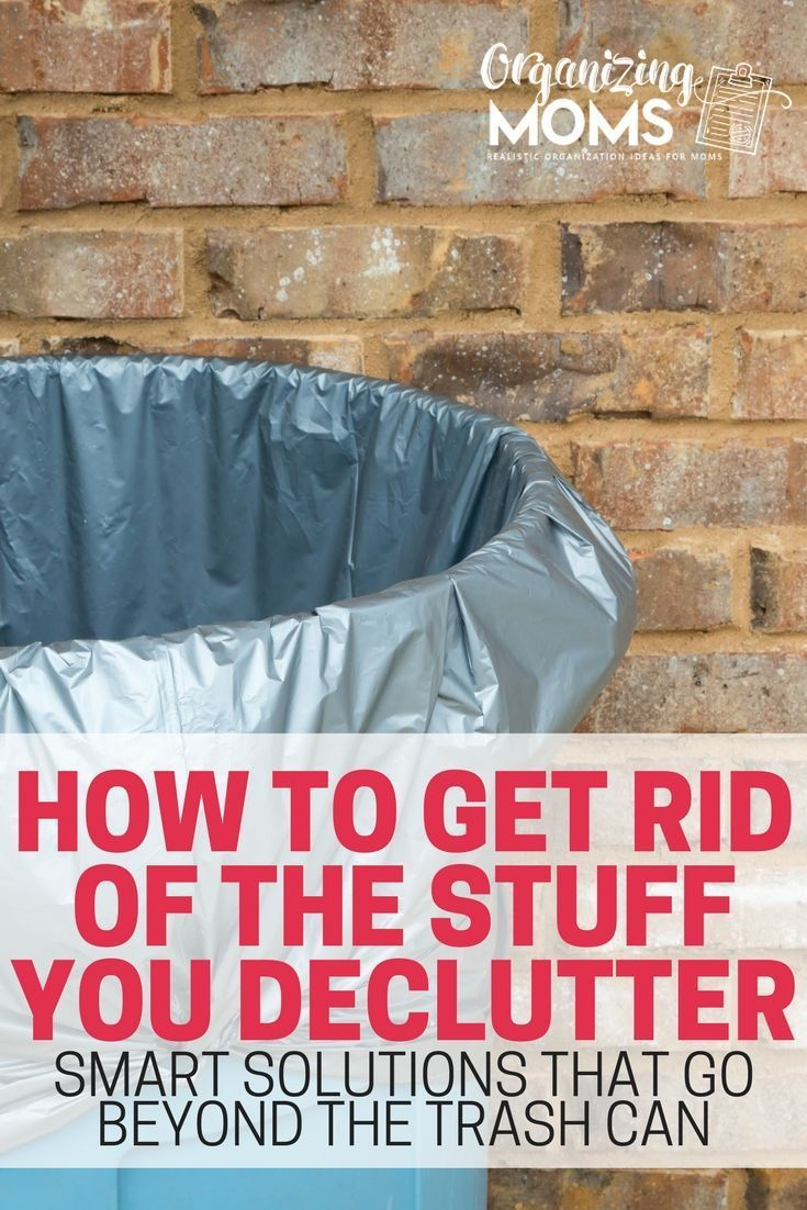 Tips, tricks, and ideas for getting rid of your decluttered items. Get rid of your junk responsibly without letting it clutter up your home. #cluttertips
