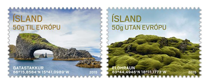 COLLECTORZPEDIA: Iceland Stamps Tourist Stamps IV - Eldhraun and Gatastakkur