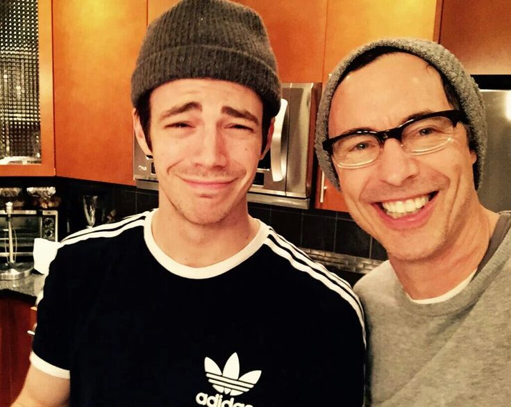 And this one also is me and my sister! Lol I'm Tom and Kristian is Grant! Lol Tom Cavanagh and Grant Gustin