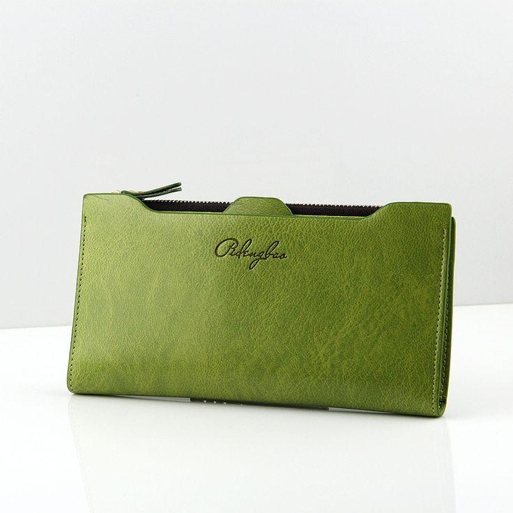 Nueva llegada de las mujeres de cuero carteras Señora messenger bag diseño NQB60 cambio monedero de la cartera para Mujer monederos envío libre