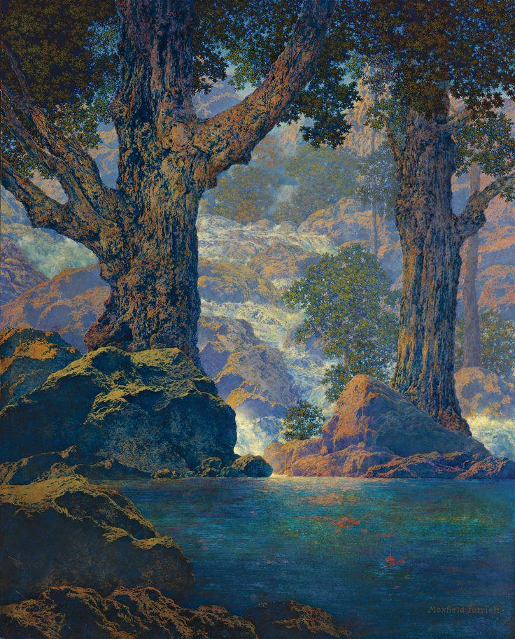 Art History News: Maxfield Parrish at Auction CASCADES (QUIET SOLITUDE)