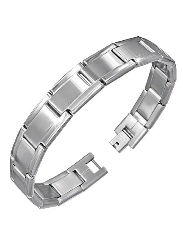 Stainless steel bracelet. All stainless steel, titanium, tungsten and costume jewelry items are delivered in free, shock-proof envelopes offered by BeSpecial.ro - online jewelry store.