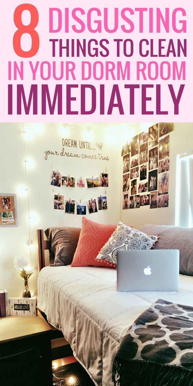 what needs to be cleaned in a dorm room college tips pinterest
