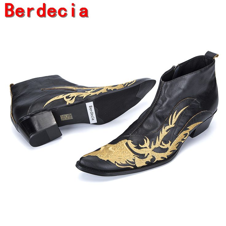 >> Click to Buy << Berdecia military tactical boots genuine leather black mens high heels rubber rain boots botines hombre chelsea shoes men 	 #Affiliate