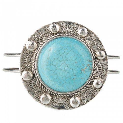 Decent Round Turquoise Bangle Bracelet | favwish - Jewelry on ArtFire