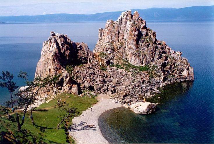 Peninsula into Lake Baikal (Crescent Moon Lake)