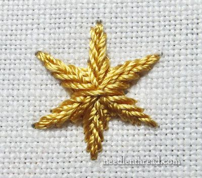 Star Stitch Embroidery Stitch .... clear instructions & pics ! Kind of like braiding  - great effect !