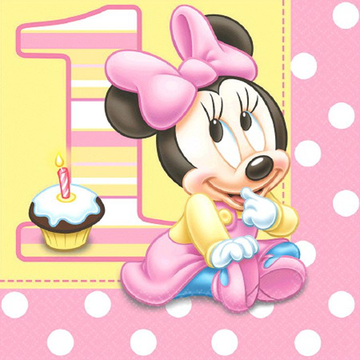Disney Minnie's 1st Birthday Lunch Napkins from BirthdayExpress.com