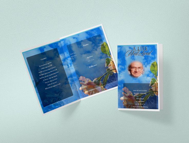 Mer enn 25 bra ideer om Funeral program template free på Pinterest - funeral template free