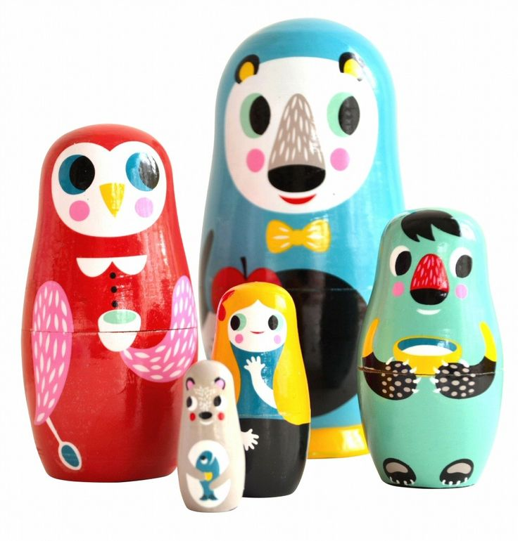 Helen Dardik nesting dolls into the woods..I love this and about everything Helen Dardik does.