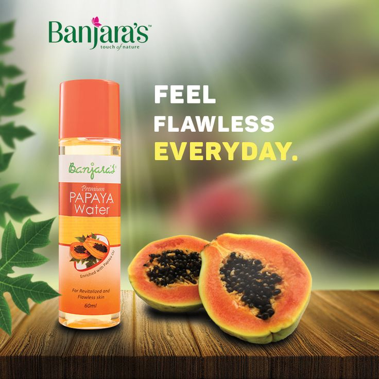 We, here at Banjara's, provide you with Banjara's Premium Papaya Water which is made from purified water and enriched with the goodness of papaya oil. Applying this papaya water on the face or using it with a face pack revitalizes and gives it an even tone by removing dead skin cells and dark spots. Its nourishing formula moisturizes the skin- making it soft,  smooth and supple. Regular use of papaya water reduces signs of aging such as blemishes and fine lines with a flawless glow.