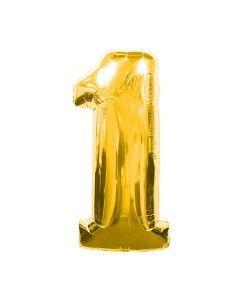 Doğum günü parti süslemeleri için 1 Şekilli Rakam Altın Rengi Folyo Balon ürünümüzü sitemizden online olarak uygun fiyatlar ile satın alabilirsiniz
