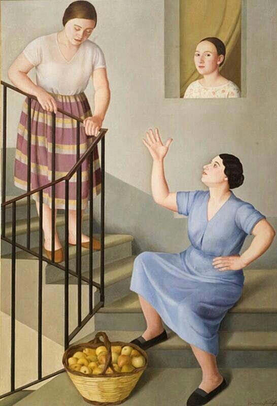 Donne per le scale, 1929__Antonio Donghi__Roma 1897 - 1963_Disponibilità MPS