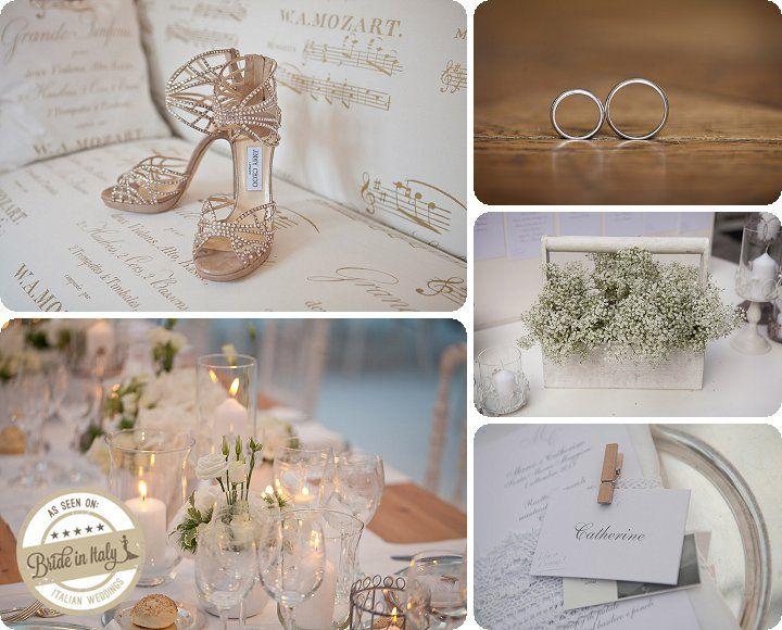 Shabby chic wedding in white + ecru. Ph Michela Magnani http://www.brideinitaly.com/2013/12/magnani-circus.html #wedding #italy