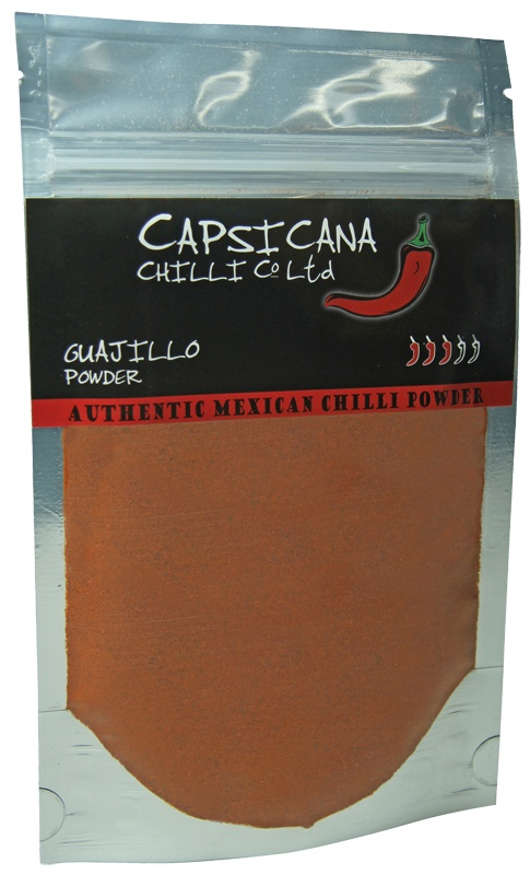 The deliciousness of Guajillo chillies in an easy to use powder. Made from 100% Mexican Guajillo chillies. Add to your cooking for medium heat and a great flavour kick. Guajillo works really well with pork and chicken dishes.