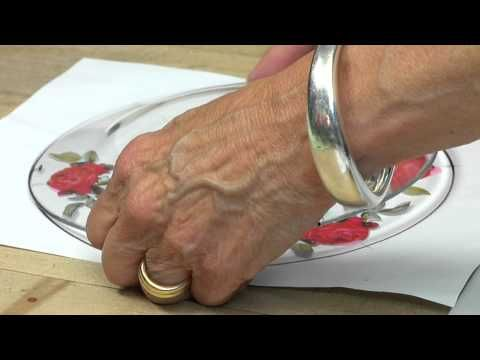 DIY Serving Plate Personalized Beautiful Easy Fun Make It Yourself - YouTube