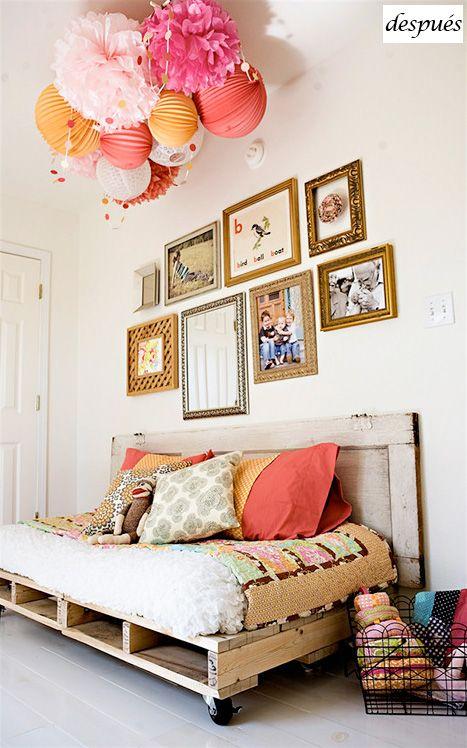 cama de día de palets