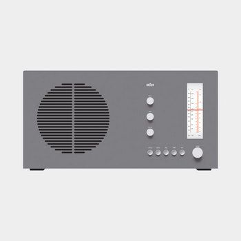 TP 1 radio/phono combination, 1959, by Dieter Rams for Braun.    Good design is innovative    The possibilities for innovation are not, by any means, exhausted. Technological development is always offering new opportunities for innovative design. But innovative design always develops in tandem with innovative technology, and can never be an end in itself.