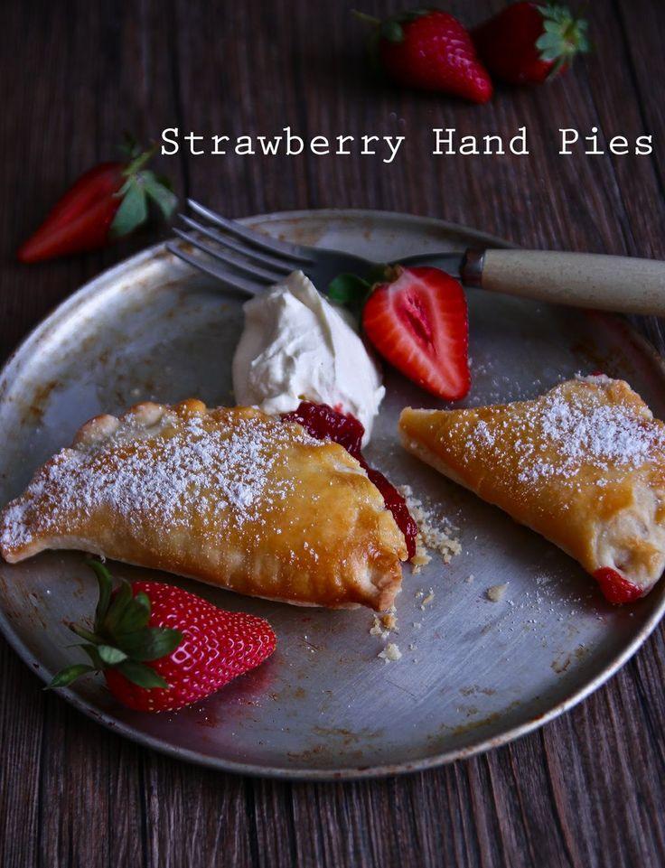 Sweet Li'l Strawberry Hand Pies | Sweets | Pinterest