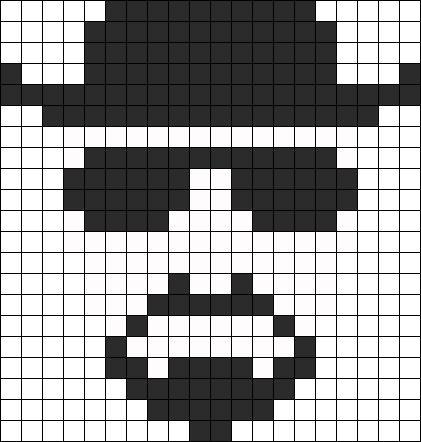 Heisenberg Breaking Bad perler bead pattern