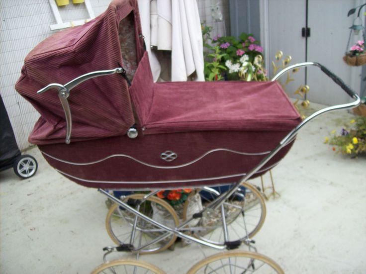 60er/70er Nostalgie Kinderwagen, Original,altrosa, Cord