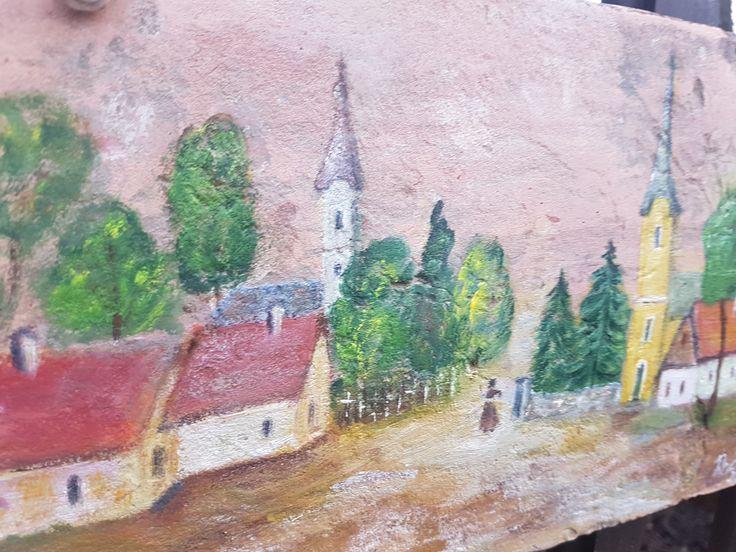 bontott festett cserép