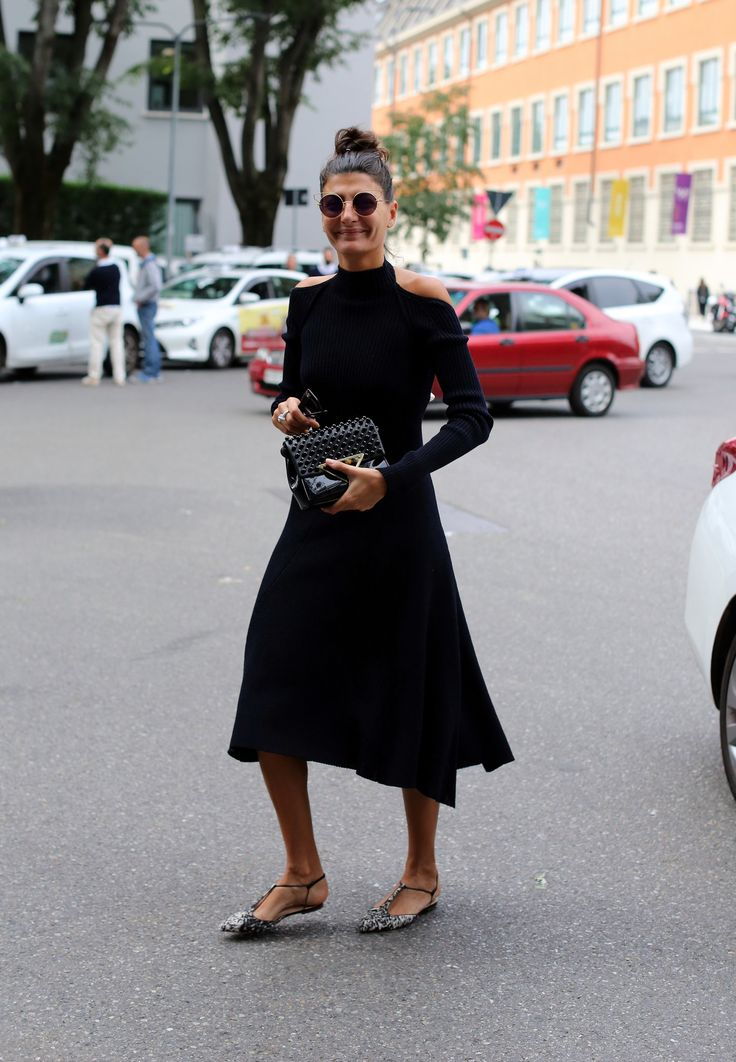 The fashion editor Giovanna Battaglia during Milan Fashion Week. (Photo: Lee Oliveira for The New York Times)