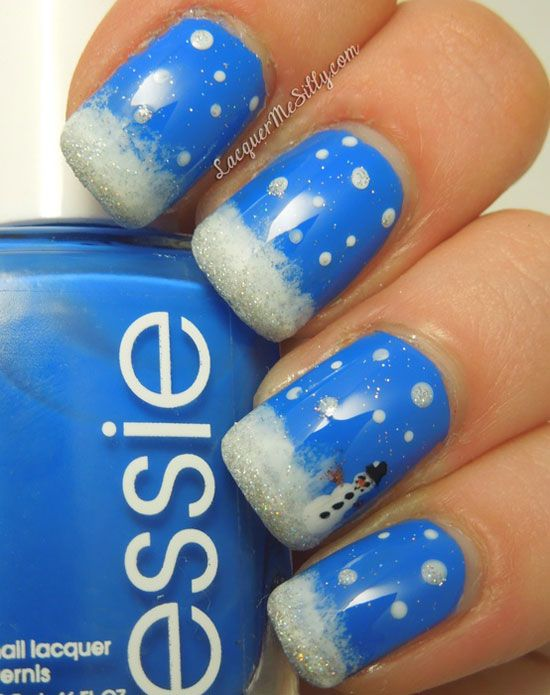 10 Best Winter Nail Art Images On Pinterest Christmas Nails Cute